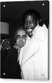 Elton John And Barry White Acrylic Print
