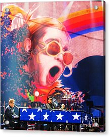 Elton John Then And Now Acrylic Print
