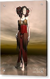 Elvin Princess  Acrylic Print by Sandra Bauser Digital Art