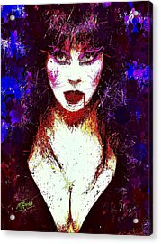 Acrylic Print featuring the mixed media Elvira Mistress Of The Dark by Al Matra