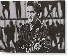 Elvis - 68 Comeback Acrylic Print by Mike OConnell
