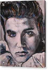 Elvis 2 Acrylic Print by Eric Dee
