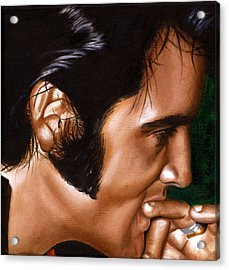 Elvis 24 1969 Acrylic Print by Rob De Vries