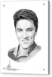 Elvis Aaron Presley Acrylic Print by Murphy Elliott