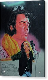 Acrylic Print featuring the painting Elvis And Jon by Thomas J Herring