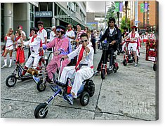 Elvis At The Running Of The Bulls- New Orleans Acrylic Print