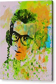 Elvis Costello Acrylic Print by Naxart Studio