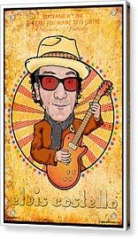 Elvis Costello Acrylic Print by John Goldacker