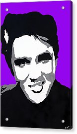 Acrylic Print featuring the drawing Elvis Don't Live Here Anymore by Robert Margetts