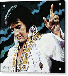 Elvis - How Great Thou Art Acrylic Print by John Lautermilch