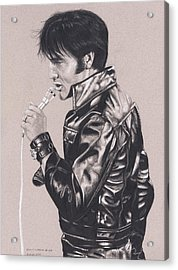 Elvis In Charcoal #177, No Title Acrylic Print