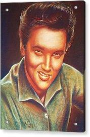 Elvis In Color Acrylic Print by Anastasis  Anastasi