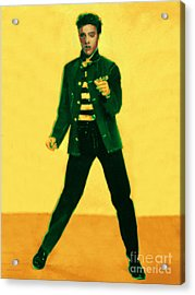 Elvis Is In The House Acrylic Print by Wingsdomain Art and Photography