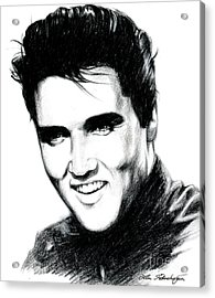 Elvis Acrylic Print by Lin Petershagen