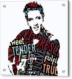 Elvis Love Me Tender Acrylic Print by Marvin Blaine