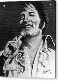 Elvis No. 8 Acrylic Print by Jay Kinney