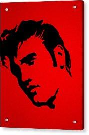 elvis on the set of True Blood Acrylic Print
