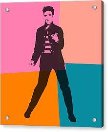 Elvis Pop Art Number 2 Acrylic Print by Dan Sproul