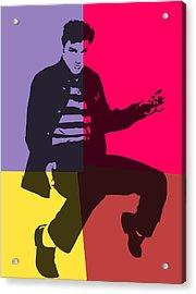 Elvis Pop Art Panels Acrylic Print by Dan Sproul
