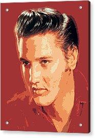 Elvis Presley - The King Acrylic Print by David Lloyd Glover