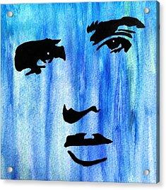 Elvis Presley Blue  Acrylic Print by Shawn Brandon