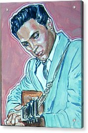 Elvis Presley Acrylic Print by Bryan Bustard