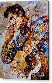 Elvis Presley Collage Art  Acrylic Print by Gull G