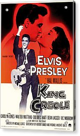 Elvis Presley In King Creole 1958 Acrylic Print by Mountain Dreams