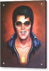 Acrylic Print featuring the painting Elvis Presley by Loxi Sibley