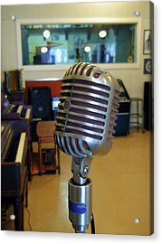 Acrylic Print featuring the photograph Elvis Presley Microphone by Mark Czerniec