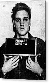 Elvis Presley Mug Shot Vertical 1 Acrylic Print