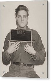 Elvis Presley Mugshot Acrylic Print by Dan Sproul