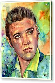 Elvis Presley Watercolor Acrylic Print