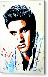 Acrylic Print featuring the painting Elvis by Steven Ponsford