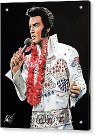 Elvis Acrylic Print by Tom Carlton