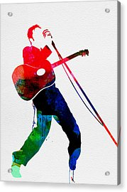 Elvis Watercolor Acrylic Print by Naxart Studio