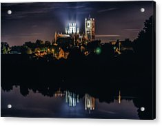 Acrylic Print featuring the photograph Ely Cathedral By Night by James Billings