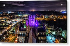 Acrylic Print featuring the photograph Ely Cathedral In Purple by James Billings