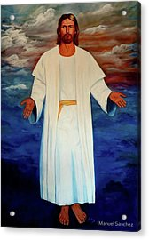 Emanuel Goes To His Father Acrylic Print by Manuel Sanchez