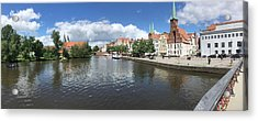 Embankment Of Trave In Luebeck Acrylic Print