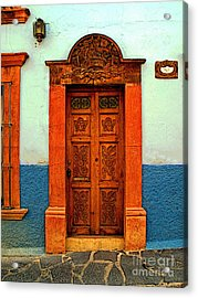 Embellished Puerta Acrylic Print by Mexicolors Art Photography