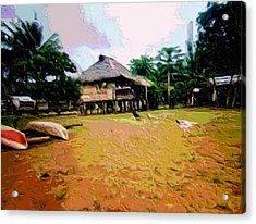 Embera Simple Way. Acrylic Print by Nereida Slesarchik Cedeno Wilcoxon