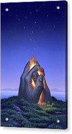 Embers Turn To Stars Acrylic Print by Jerry LoFaro