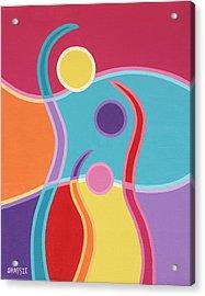 Embrace Acrylic Print by Jeff Grassie