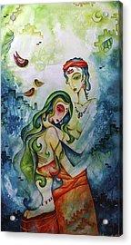 Embracing Love Acrylic Print by Rohan Sandhir