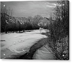 Acrylic Print featuring the photograph Embudo In Winter by Atom Crawford