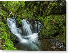 Emeral Falls Waterscape Art By Kaylyn Franks Acrylic Print