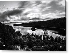 Acrylic Print featuring the photograph Emerald Bay Black And White by Brad Scott