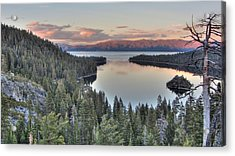 Emerald Bay Colors Acrylic Print