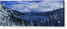 Emerald Bay First Snow Acrylic Print by Brad Scott